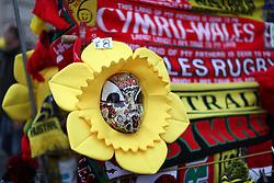 Merchandise stalls before the Autumn International at the Principality Stadium, Cardiff.