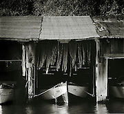 Boats in a small boatshed near Bobbin, on the island of Rugen, northwest Germany