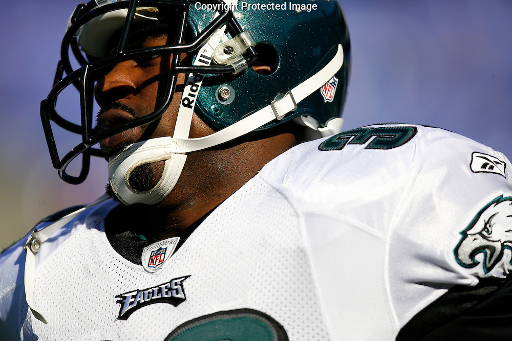23 Nov 2008: Philadelphia Eagles running back Brian Westbrook #36 before the game against the Baltimore Ravens on November 23rd 2008. The Baltimore Ravens won 36 to 7 at M & T Bank Stadium in Baltimore, Maryland.