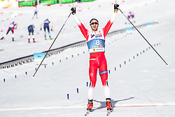 03.03.2019, Seefeld, AUT, FIS Weltmeisterschaften Ski Nordisch, Seefeld 2019, Langlauf, Herren, 50 km Massenstart, im Bild Goldmedaillengewinner und Weltmeister Hans Christer Holund (NOR) // Gold medalist and world champion Hans Christer Holund of Norway during the men's cross country 50 km mass start competition of FIS Nordic Ski World Championships 2019. Seefeld, Austria on 2019/03/03. EXPA Pictures © 2019, PhotoCredit: EXPA/ JFK