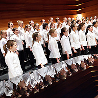 National Girls Choir. (NYCOS) National Youth Choir of Scotland.Note to Editors:  This image is free to be used editorially in the promotion of the NYCOS. Without prejudice ALL other licences without prior consent will be deemed a breach of copyright under the 1988. Copyright Design and Patents Act  and will be subject to payment or legal action, where appropriate. For further information please contact Vicky Tibbitt Marketing and Communications Manager 0141-287-2801.<br /> © Picture Drew Farrell. Tel : 07721-735041.