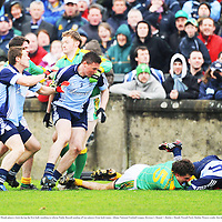 20 April 2008; Dublin and Meath players clash during the first half, resulting in referee Paddy Russell sending off two players from both teams. Allianz National Football League, Division 2, Round 7, Dublin v Meath, Parnell Park, Dublin. Picture credit: David Maher / SPORTSFILE *** Local Caption ***
