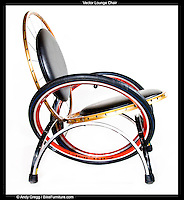 """Vector Lounge Chair (Aluminum) with padded cushions, 28""""d x 28""""w x 30""""h, 16"""" seat height, 21"""" seat depth, $595"""