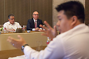 The Executive Director of The Union, José Luis Castro (background, center), participates in an interactive discussion to identify specific actions to fight the co-epidemic at the global summit on diabetes and tuberculosis in Bali, Indonesia, on November 3, 2015.<br /> The increasing interaction of TB and diabetes is projected to become a major public health issue. The summit gathered a hundred public health officials, leading researchers, civil society representatives and business and technology leaders, who committed to take action to stop this double threat. (Photo: Rodrigo Ordonez for The Union)