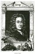 Nicholas Lemery (1645-1715) French physician and chemist. From Louis Figuier 'Vie des Savants Illustres', Paris, 1870. Engraving