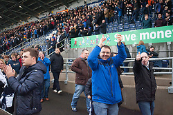 South stand at the end. Falkirk 2 v 1 Dunfermline, Scottish Championship game played 15/10/2016, at The Falkirk Stadium.