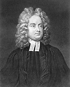 Jonathan Swift (1667-1745) Anglo-Irish satirist, poet and cleric. Lithograph after portrait by Charles Gervas (c1675-1739) Irish painter and printmaker