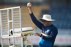 December 28, 2017 - Colombo, Western Province, Sri Lanka - Sri Lanka head coach Chandika Hathurusingha trying out the Bowling machine during the net session (Credit Image: © Sameera Peiris/Pacific Press via ZUMA Wire)