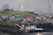 By The Sea - Redcar Gar colour photo art pictures by Paul Williams of the fishing boats in the small harbour at the mouth of the Tees, England.
