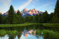 """Daybreak at Shwabackers Landing, Grand Teton National Park<br /> <br /> For production prints or stock photos click the Purchase Print/License Photo Button in upper Right; for Fine Art """"Custom Prints"""" contact Daryl - 208-709-3250 or dh@greater-yellowstone.com"""