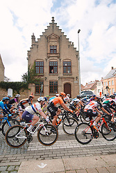 Alice Barnes (GBR) in the bunch at the 2020 Gent Wevelgem - Elite Women, a 141.4 km road race from Ieper to Wevelgem, Belgium on October 11, 2020. Photo by Sean Robinson/velofocus.com