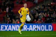 Jordan Pickford of England during the International Friendly match between England and USA at Wembley Stadium, London, England on 15 November 2018.
