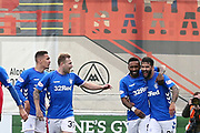GOAL Rangers forward Jermain Defoe (9) scores to make it 0-2 and celebrates during the Ladbrokes Scottish Premiership match between Hamilton Academical FC and Rangers at New Douglas Park, Hamilton, Scotland on 24 February 2019.