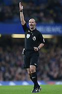 Referee Robert Madley in action. Premier league match, Chelsea v Stoke city at Stamford Bridge in London on Saturday 31st December 2016.<br /> pic by John Patrick Fletcher, Andrew Orchard sports photography.