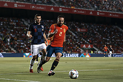 September 11, 2018 - Elche, Alicante, Spain - Dani Carvajal Ramos (R) of Spain competes for the ball with Mateo Kovacic of Croatia during the UEFA Nations League A group four match between Spain and Croatia at Manuel Martinez Valero on September 11, 2018 in Elche, Spain  (Credit Image: © David Aliaga/NurPhoto/ZUMA Press)