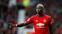 Manchester United's Paul Pogba during the Premier League match at Old Trafford, Manchester.