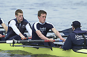 Hammersmith, London. 2002 University Boat Race, 26/3/2002, Tideway Week,<br /> <br /> 2002 Varsity Boat Race<br /> 27/3/2002<br /> Wed Training<br /> Strome OUBC President, Matt SMITH and Robin BOURNE-TAYLOR<br /> <br /> [Mandatory Credit Peter SPURRIER/Intersport Images] 20020327 University Boat Race, [Varsity],  Tideway Week. Putney. London