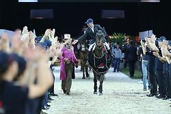 Delaveau Patrice (FRA) - Lacrimoso 3 HDC<br /> CSI 5* Longines Hong Kong Masters 2013<br /> Winner of the Longines Grand Prix<br /> © Hippo Foto - Counet Julien