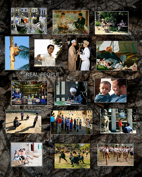 Poster sized collage of people pictures