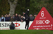 19/10/2003 - Photo  Peter Spurrier.2003 HSBC World Match Play Championship - Wentworth.Sunday - Final Day- Ernie Els v Thomas Bjorn:.Thomas Bjorn drives of the sixth Tee.....[Mandatory Credit Peter Spurrier/ Intersport Images]