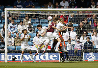 Photo: Chris Ratcliffe.<br /> Leeds United v Arsenal. Womens' FA Cup Final. 01/05/2006.<br /> Julie Fleeting of Arsenal heads the first goal for Arsenal.