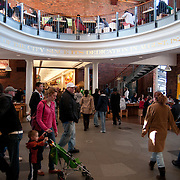 The Great Hall at historic Quincy Market in downtown Boston is a popular destination for tourist year-round.