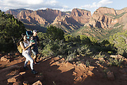 SHOT 8/6/17 7:26:46 PM - UOT Tourism photos of Brian Head and Cedar City, Utah. Images include riding Brian Head Resort in Brian Head, Utah; exploring Cedar Breaks National Monument, hiking Kolob Canyons in Zion National Park and mountain biking the Lava Flow Trail in Cedar City, Utah. (Photo by Marc Piscotty / © 2017)