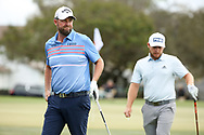 Marc Leishman (AUS) and Tyrrell Hatton (ENG) during the final round of the Arnold Palmer Invitational presented by Mastercard, Bay Hill, Orlando, Florida, USA. 08/03/2020.<br /> Picture: Golffile | Scott Halleran<br /> <br /> <br /> All photo usage must carry mandatory copyright credit (© Golffile | Scott Halleran)