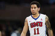 DALLAS, TX - JANUARY 7: Nic Moore #11 of the SMU Mustangs looks on against the Cincinnati Bearcats on January 7, 2016 at Moody Coliseum in Dallas, Texas.  (Photo by Cooper Neill/Getty Images) *** Local Caption *** Nic Moore