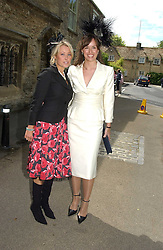 Left to right, LADY CLARE KERR and LADY ROSE INNES-KERR at the wedding of Hugh van Cutsem to Rose Astor in Burford, Oxfordshire on 4th June 2005.<br />