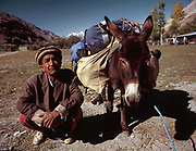 Buying the donkey in Lasht, Chitral.  Matthieu and Mareile Paley trekking with a donkey named Clementine over 5 high passes across the Hindukush, between Pakistan and Afghanistan.