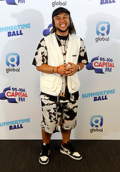 Jax Jones on the red carpet of the the media run during Capital's Summertime Ball. The world's biggest stars perform live for 80,000 Capital listeners at Wembley Stadium at the UK's biggest summer party.