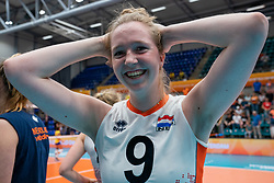 Britte Stuut of Netherlands after Brazil - Netherlands, FIVB U20 Women's World Championship on July 11, 2021 in Rotterdam