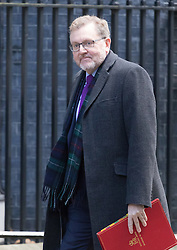 Downing Street, London, February 28th 2017. Scotland Secretary David Mundell attends the weekly cabinet meeting at 10 Downing Street in London.