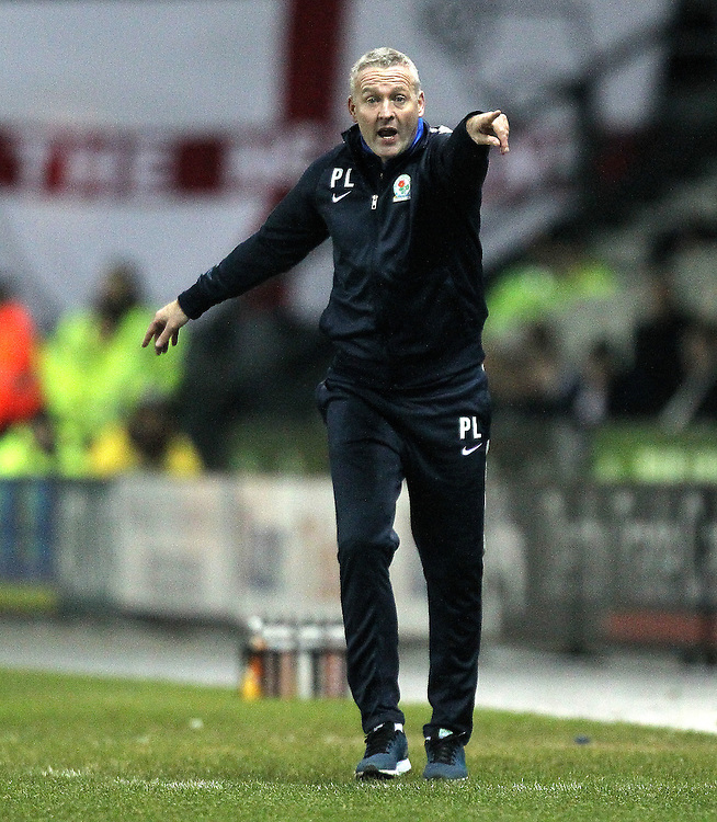 Blackburn Rovers Manager Paul Lambert<br /><br />Photographer Mick Walker/CameraSport<br /><br />Football - The Football League Sky Bet Championship - Derby County v Blackburn Rovers - Wednesday 24th February 2016 - iPro Stadium - Derby<br /><br />© CameraSport - 43 Linden Ave. Countesthorpe. Leicester. England. LE8 5PG - Tel: +44 (0) 116 277 4147 - admin@camerasport.com - www.camerasport.com