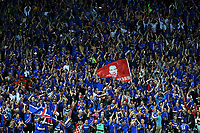 Iceland fans celebrate at the end of the match Esultanza fine partita Islanda <br /> Saint-Etienne 14-06-2016 Stadium Geoffroy-Guichard Football Euro2016 Portugal-Iceland / Portogallo-Islanda Group Stage Group F<br /> Foto Massimo Insabato / Insidefoto