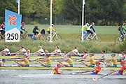 Eton Dorney, Windsor, Great Britain,..2012 London Olympic Regatta, Dorney Lake. Eton Rowing Centre, Berkshire[ Rowing]...Description;  Heat of the  W8+ GBR W8+ .Olivia WHITLAM (b) , Louisa REEVE (2) , Jessica EDDIE (3) , Lindsey MAGUIRE (4) , Natasha PAGE (5) , Annabel VERNON (6) , Katie GREVES (7) , Victoria THORNLEY (s) , Caroline O'CONNOR (c).. Dorney Lake. 10:54:19  Tuesday  31/07/2012.  [Mandatory Credit: Peter Spurrier/Intersport Images].Dorney Lake, Eton, Great Britain...Venue, Rowing, 2012 London Olympic Regatta...