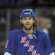Benoît Pouliot, New York Rangers, during the New York Rangers Vs Philadelphia Flyers, NHL regular season game at Madison Square Garden, New York, USA. 26th March 2014. Photo Tim Clayton