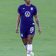 ORLANDO, FL - JANUARY 22:  Crystal Dunn #19 of United States is seen against Columbia at Exploria Stadium on January 22, 2021 in Orlando, Florida. (Photo by Alex Menendez/Getty Images) *** Local Caption *** Crystal Dunn