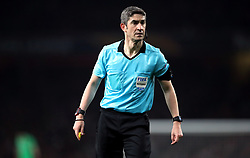Referee Alberto Undiano Mallenco during the UEFA Europa League round of 32 second leg match at the Emirates Stadium, London.