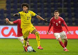 Jens-Lys Cajuste (Sverige) under venskabskampen mellem Danmark og Sverige den 11. november 2020 på Brøndby Stadion (Foto: Claus Birch).