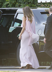 June 24, 2017 - Washington, District of Columbia, United States of America - United States President Donald J. Trump and first lady Melania Trump depart the White House in Washington, DC to attend the wedding of US Secretary of the Treasury Steven Mnuchin and Louise Linton on Saturday, June 24, 2017..Credit: Ron Sachs / Pool via CNP United States President Donald J. Trump and first lady Melania Trump depart the White House in Washington, DC to attend the wedding of US Secretary of the Treasury Steven Mnuchin and Louise Linton on Saturday, June 24, 2017.  The first lady is wearing a Gilles Mendel silk chiffon gown with Manolo Blahnik pumps...Credit: Ron Sachs / Pool via CNP (Credit Image: © Ron Sachs/CNP via ZUMA Wire)