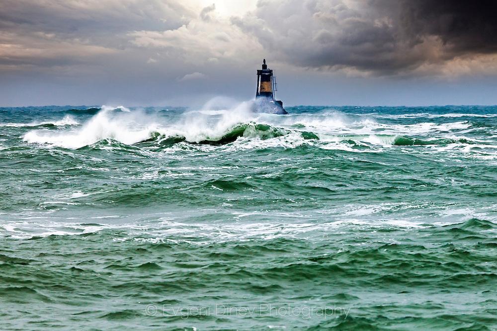 Winter stom in the sea