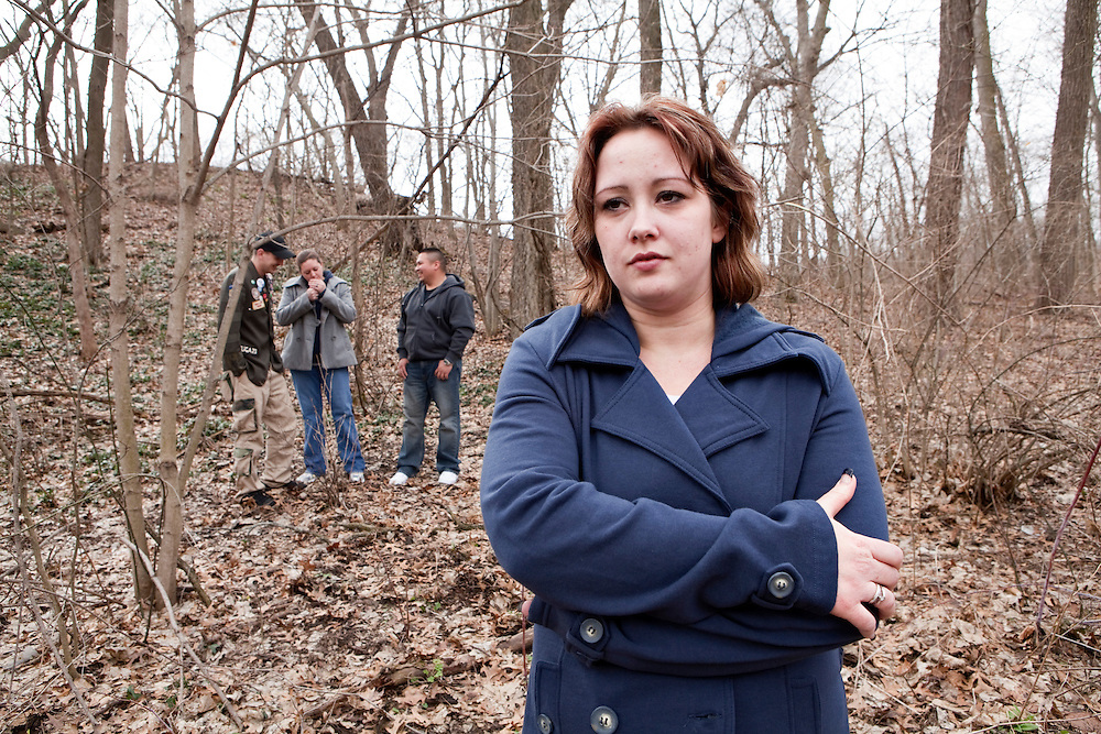 """Brigette Cain, 27 years old from Oregon, IlHusband Norman, 23 yrs old, killed in Afghanistan, IED explosive, in March, 2009. <br /> Images part of the ongoing series by Gina LeVay.  Women of The American Widow Project is a photo and video project that focuses on young military widows across the country to create an honest and intimate portrait of the """"other side"""" of the conflicts in Iraq and Afghanistan.  LeVay's goal is to work with as many women and men as possible to create an extensive and diverse visual portrait of our country now."""