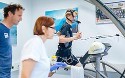 02.05.2016, Bezirkskrankenhaus, St. Johann i.T., AUT, OeSV, Skisprung, Sportmedizinische Untersuchung, im Bild v.l.: Cheftrainer Heinz Kuttin (AUT) und Michael Hayböck (AUT) // f.l.: Headcoach Heinz Kuttin of Austria and Michael Hayboeck of Austria during the medical examination of the Austrian Skijumping Team at the Sports Medicine Institute, St. Johann i.T. on 2016/05/02. EXPA Pictures © 2016, PhotoCredit: EXPA/ JFK