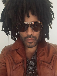 """Lenny Kravitz releases a photo on Twitter with the following caption: """"""""Wondering what the F$@k @andy is going to ask me tonight on @BravoWWHL"""""""". Photo Credit: Twitter *** No USA Distribution *** For Editorial Use Only *** Not to be Published in Books or Photo Books ***  Please note: Fees charged by the agency are for the agency's services only, and do not, nor are they intended to, convey to the user any ownership of Copyright or License in the material. The agency does not claim any ownership including but not limited to Copyright or License in the attached material. By publishing this material you expressly agree to indemnify and to hold the agency and its directors, shareholders and employees harmless from any loss, claims, damages, demands, expenses (including legal fees), or any causes of action or allegation against the agency arising out of or connected in any way with publication of the material."""