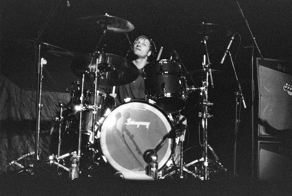 WANTAGH - JUNE 16: Fuel drummer Kevin Miller performs at Jones Beach Theater on June 16, 2001, in Wantagh, New York. (Photo by Lisa Lake)