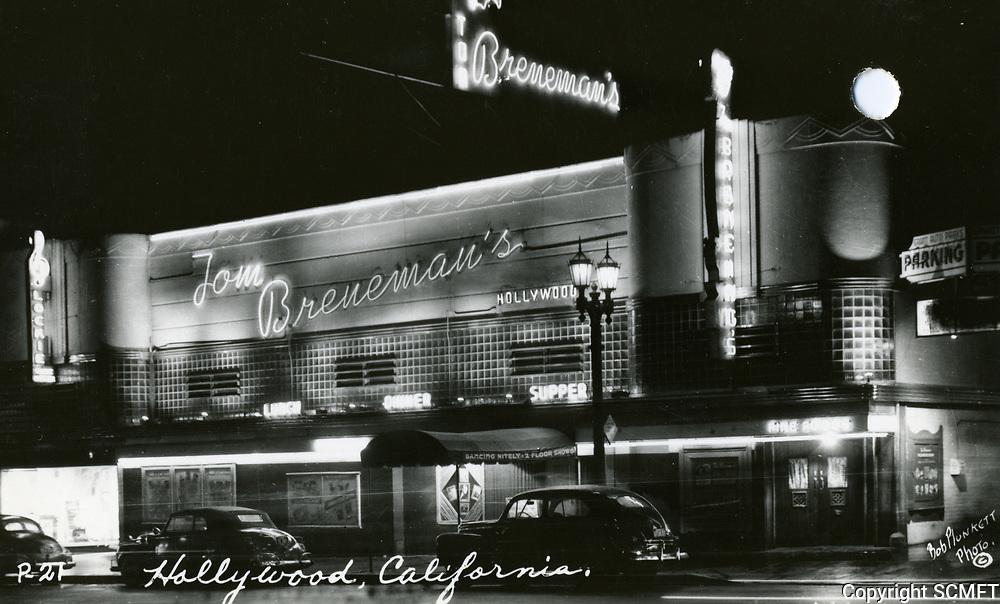 1947 Tom Breneman's Restaurant on Vine St.