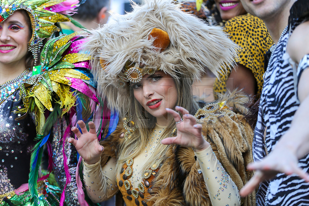 © Licensed to London News Pictures. 30/12/2019. London, UK. Performers from London School of Samba at the preview of the London New Year's Day Parade inCovent Garden Piazza.<br /> The London New Years Day Parade, in its 32nd year will take place on 1 January 2020 and will feature more than 10,000 performers from across the world. Photo credit: Dinendra Haria/LNP