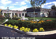 Active Aging Senior Citizens, Retired, Activities, Exterior Retirement Community, Flower Garden